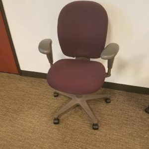 Used Herman Miller Ambi Maroon fabric gray frame