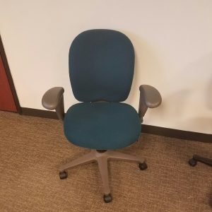 Used Herman Miller Ambi office chairs teal fabric