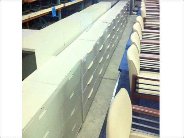 """Used Haworth 4 Drawer 36"""" Lateral File Cabinets"""