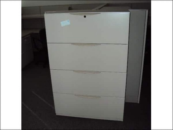 Used Haworth 4 drawer Lateral 36 inch wide File Cabinets
