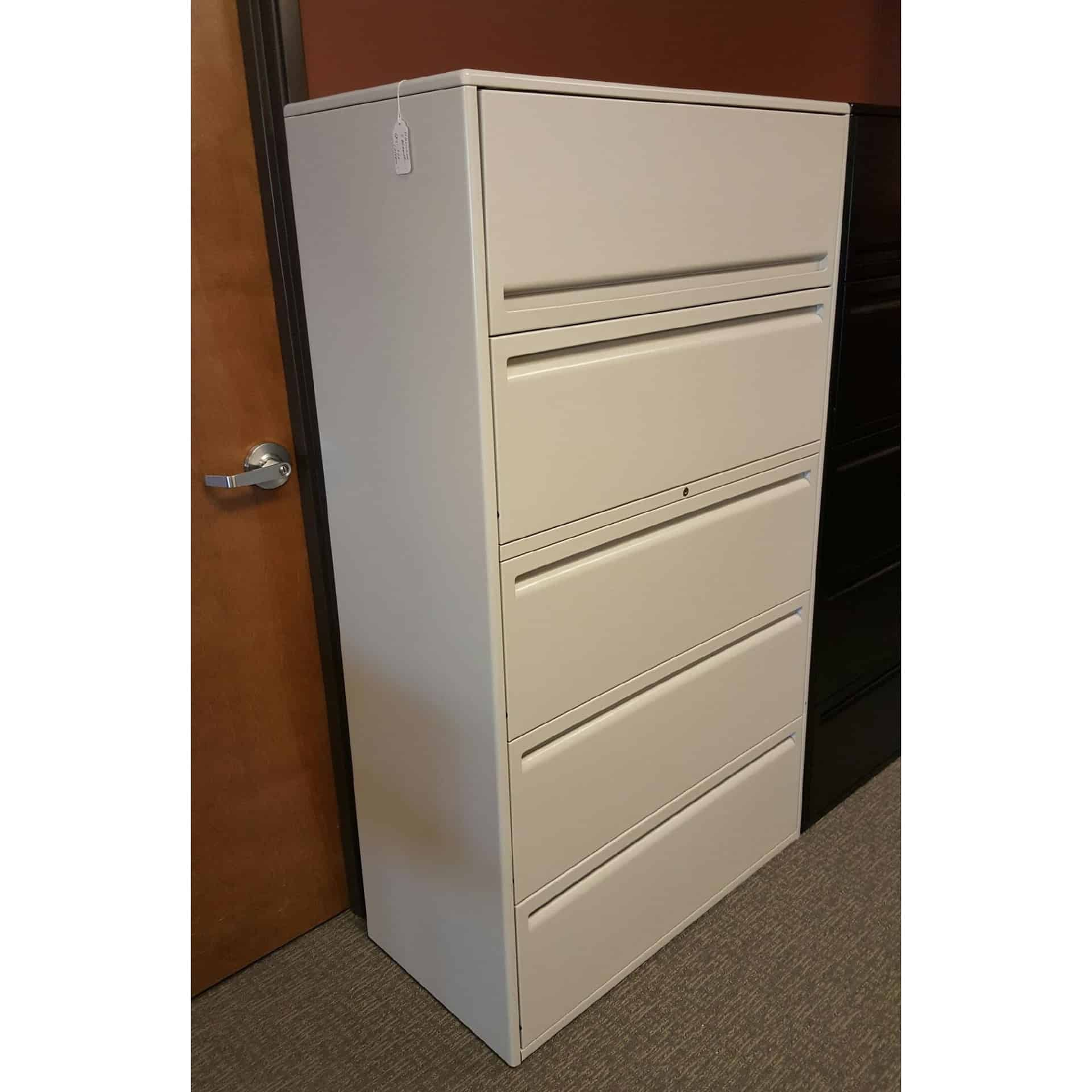 Haworth 5 Drawer Lateral File Cabinets 36 Wide 950 Series
