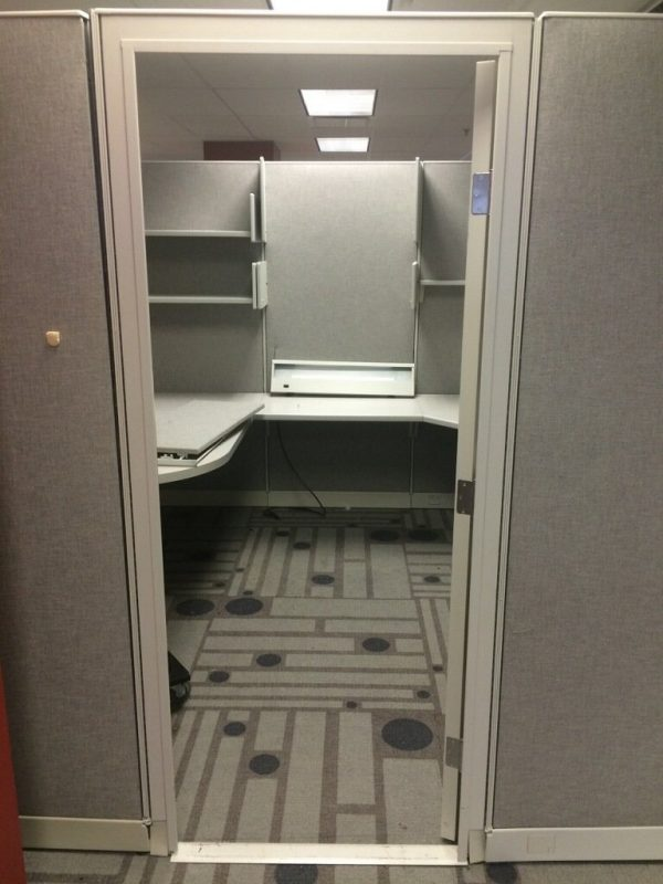 Used Haworth Cubicles with Doors 80in high