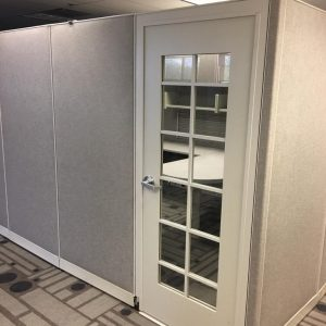 Used Haworth Cubicles with Doors 6x6x80