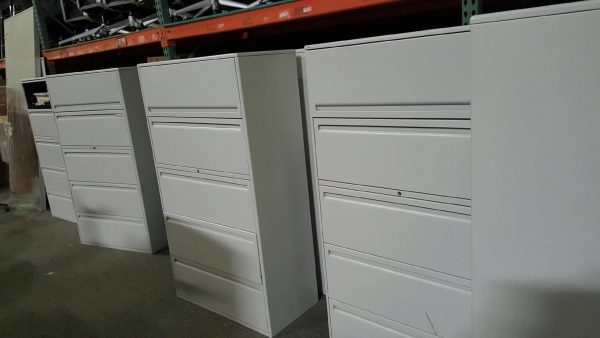 Haworth 5 Drawer Lateral File Cabinets 36 in Wide 950 Series