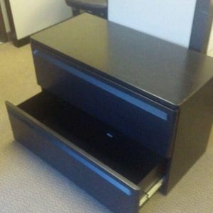 Used Herman Miller Black 2 Drawer Lateral File Cabinets