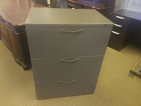 """Used Herman Miller 3 Drawer 30"""" Lateral File Cabinets"""