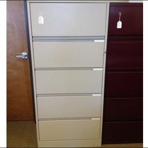 Used Herman Miller 5 Drawer Lateral File Cabinets 30″ wide 36″ wide 42″ wide