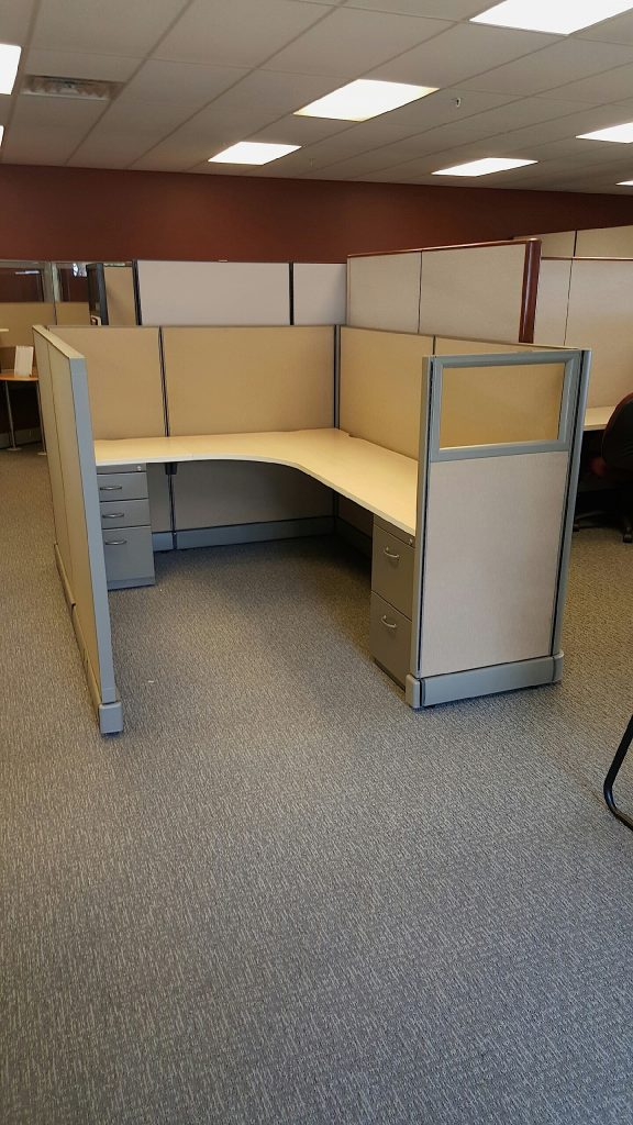 Used Herman Miller AO2 Cubicle Workstations