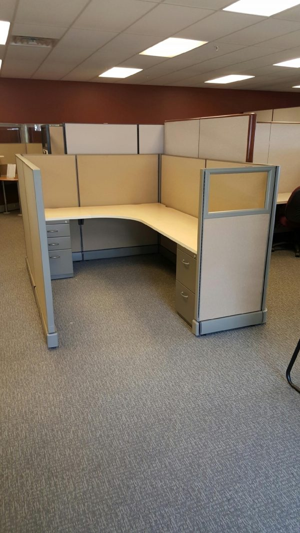 Used Herman Miller AO2 cubicles for sale