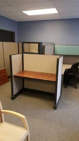 Herman Miller AO2 4x2 low panel cubicles