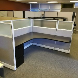 Herman Miller AO2 6x6x53 frosted glass cubicles
