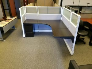 used Herman Miller AO2 6x6x53 frosted glass cubicles