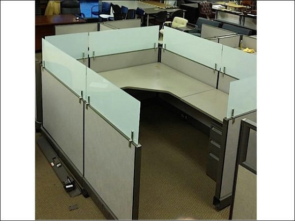 Used Herman Miller AO2 Cubicles With Frosted Glass