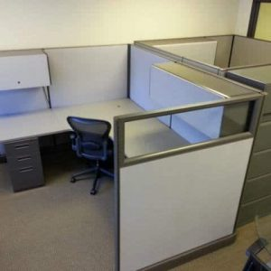 used Herman Miller AO2 Cubicles with Glass