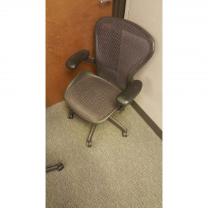 Used Herman Miller Aeron Size B Purple Office Chairs