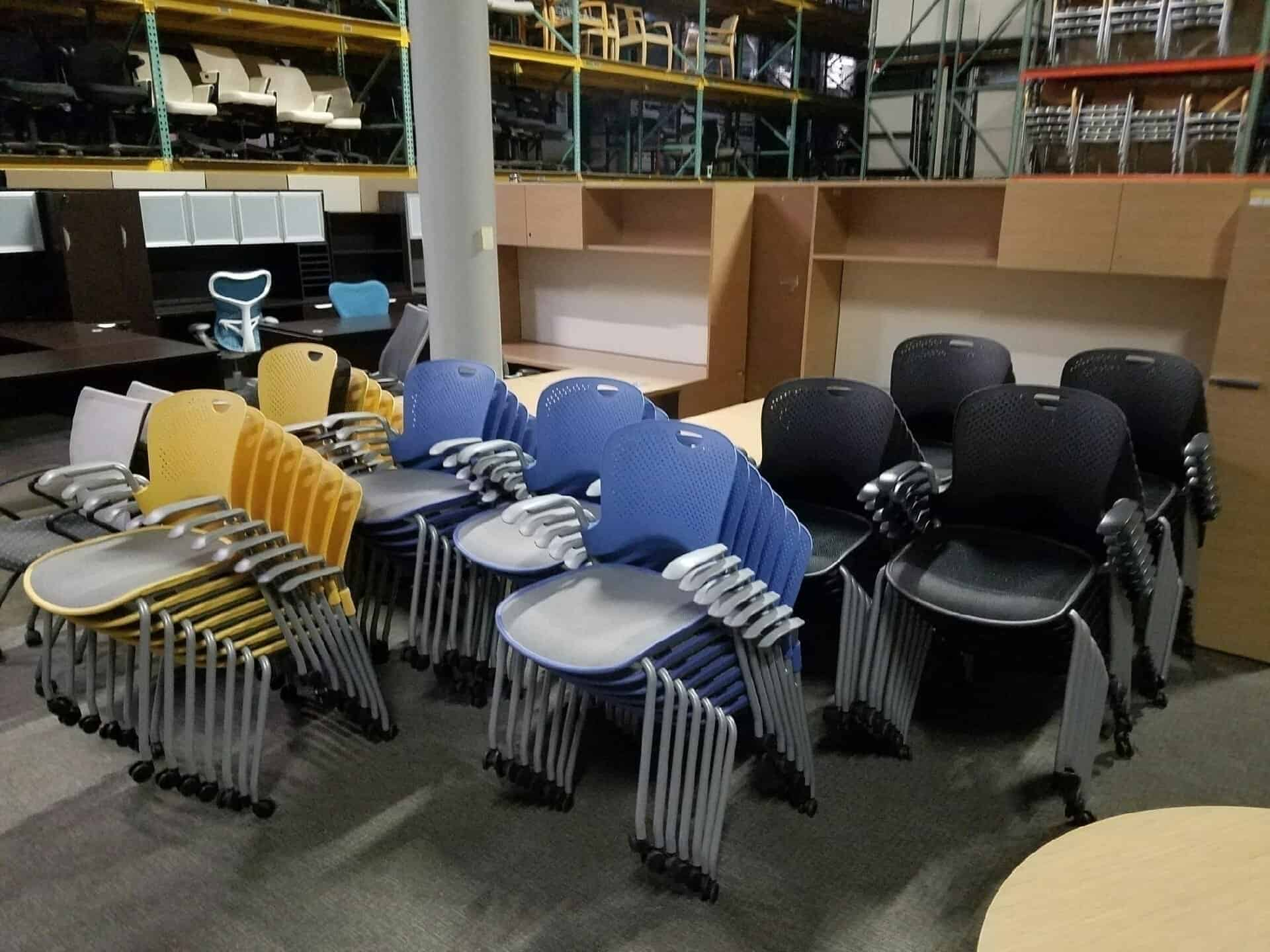 Used Herman Miller Caper Chairs Stacking