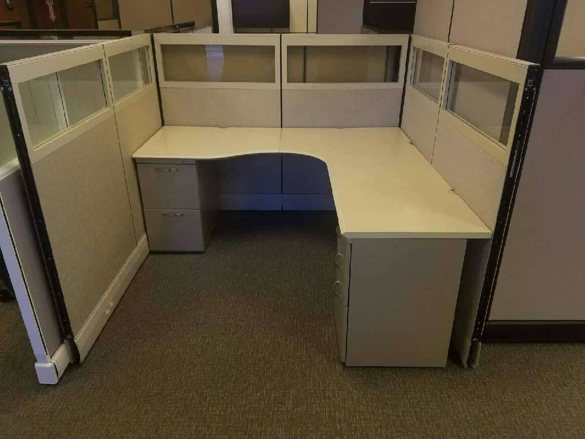 Office Furniture: Herman Miller Cubicles With Glass Secondhand Cheap