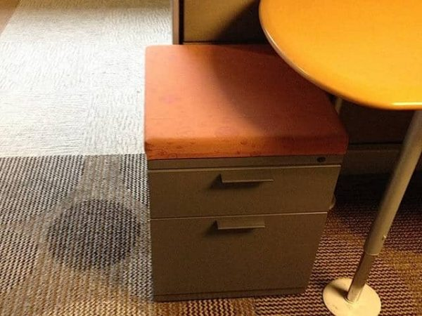 Used Herman Miller Meridian Charcoal BF Mobile Pedestals with Cushion