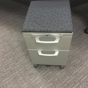 used Herman Miller 2 drawer box/file mobile pedestals