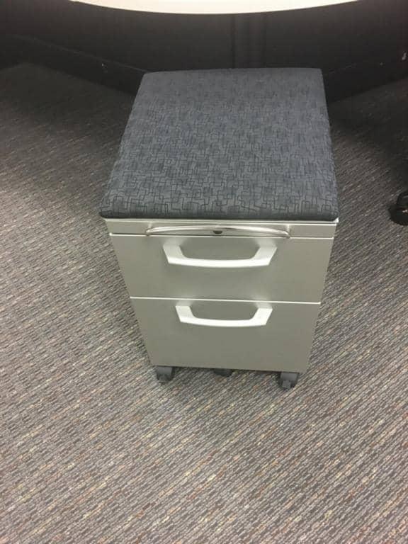 used Herman Miller 2 drawer box/file mobile pedestals
