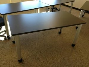 """Used Herman Miller 5'x30"""" Mobile Training Tables"""