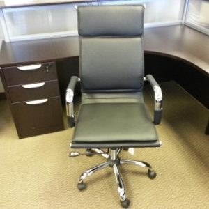 Used Black High Back Conference Room Chairs