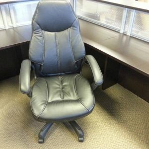 used Highback Black on Black Executive Office Chairs