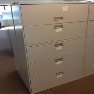 Used Hon 42″ Wide 5 Drawer Lateral Files