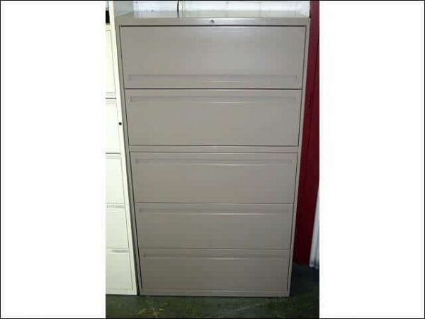 Used Hon 5 Drawer 30″ Wide Lateral Files