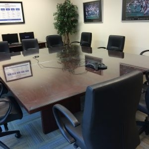 used wood conference table