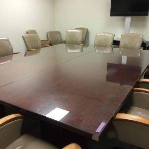 wood veneer conference table