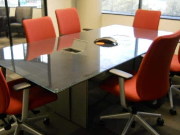Glass Table Office