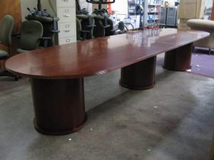 Used 14ft Racetrack Conference Table