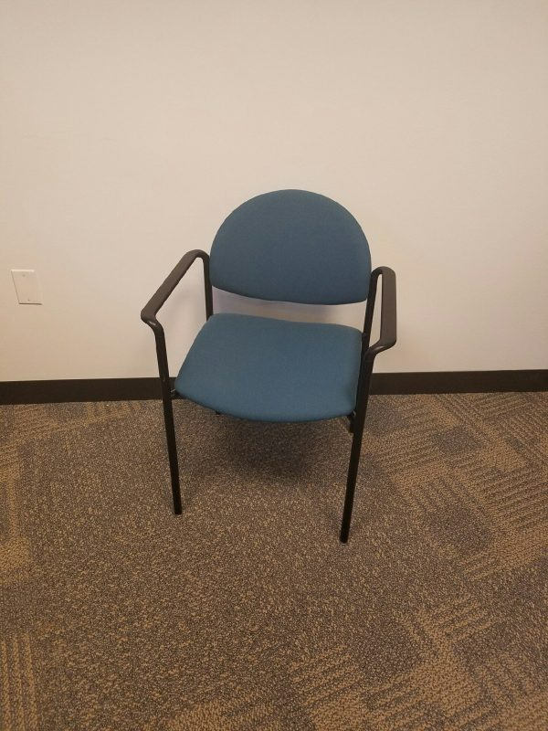 Used KI Teal Stack Chairs