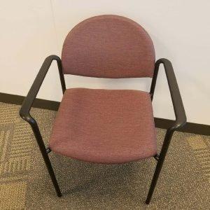 Used Ki Maroon Fabric Stack Chairs