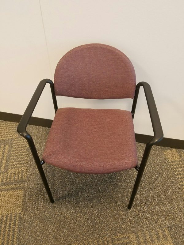 Used Ki Maroon Fabric Stack Chairs