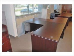 used Espresso L Shaped Desk