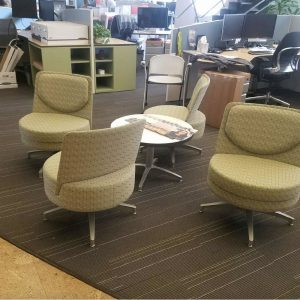 Lounge Chairs and a round table