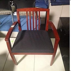 Used Mahogany Frame Wood Side Chairs