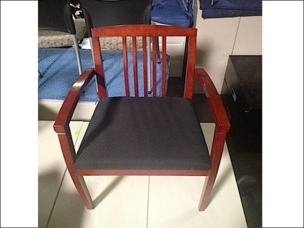 Used Mahogany Frame Wood Side Chair
