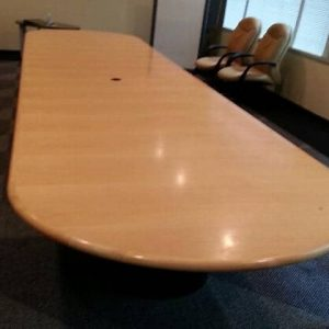 Used 18 Ft Maple Wood Veneer Conference Table