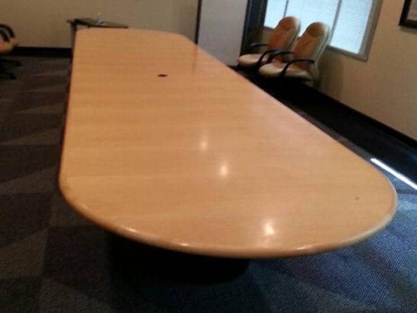 Used 18 Ft Maple Wood Veneer Conference Table