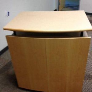 Used Maple mobile lecterns podiums