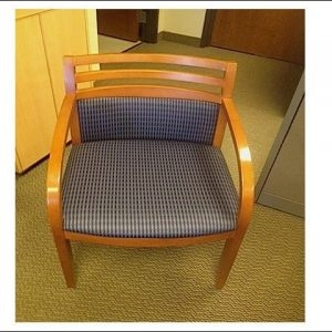 Used Metropolitan Wood Side Chairs W/ Maple Frame