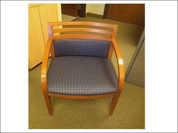 Used Metropolitan Wood Side Chairs W/ Maple Frame