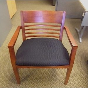 Used Office Products Cherry Wood Side Chair
