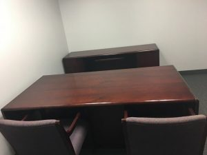 used Paoli desk and credenza sets