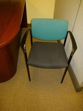 used green Steelcase Player chairs