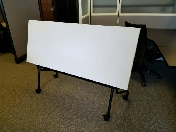 White Flip Top Training Tables - Nesting