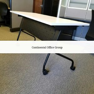 White Flip Top Training Tables - Nesting
